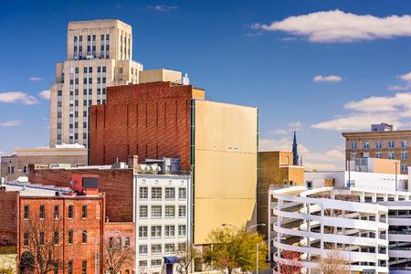 durham: Durham, North Carolina, USA downtown cityscape.
