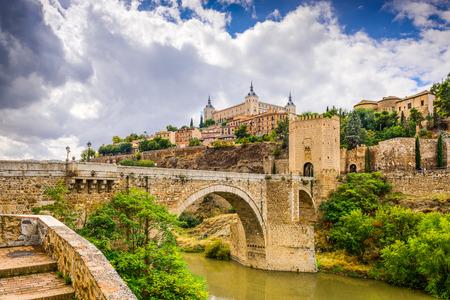 spanish village: Toledo, Spain bridge on the Tagus River.