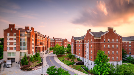 dormitory: Dormitory apartment buildings at the University of Georgia in Athens, Georgia, USA.