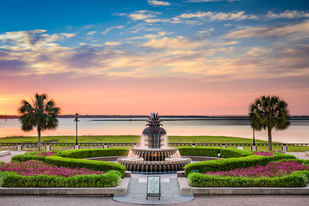 Charleston, South Carolina, USA at Waterfront Park. Imagens