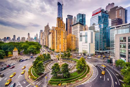 New York City, USA cityscape at Columbus Circle.
