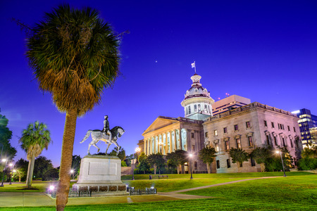 south: Columbia in South Carolina, USA at the State House. Stock Photo