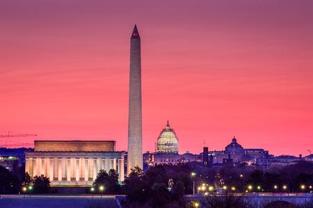 워싱턴 DC, 미국의 스카이 라인. 스톡 콘텐츠