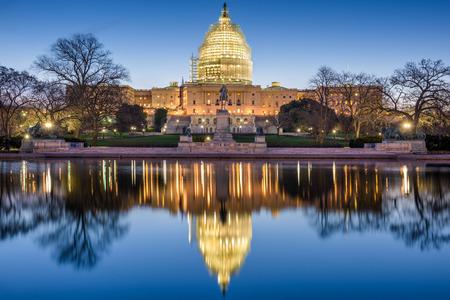 andamio: Washington, DC, en el edificio del Capitolio.