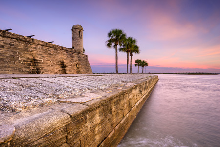 St. Augustine, Florida at the Castillo de San Marcos National Monument. Редакционное