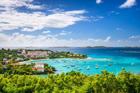 island: Cruz Bay, St John, United States Virgin Islands. Stock Photo