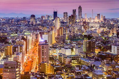 Tokyo, Japan skyline viewed from Bunkyo Ward towards Shibuya Ward. Фото со стока