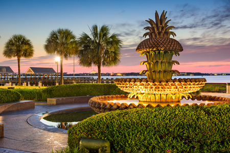 waterfront: Charleston, South Carolina, USA at Waterfront Park. Stock Photo