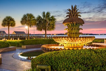 Charleston, South Carolina, Verenigde Staten op Waterfront Park. Stockfoto
