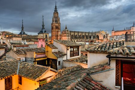 toledo town: Toledo, Spain view of the town from a rooftop.