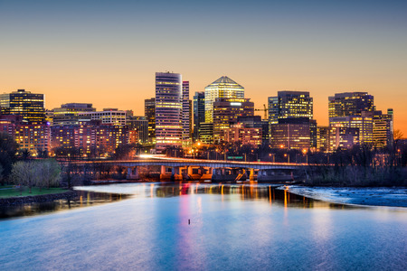 Rosslyn, Arlington, Virginia, USA skyline on the Potomac River. Stock Photo