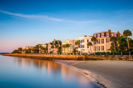 Charleston, South Carolina, Verenigde Staten in de historische huizen op de batterij.