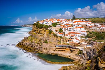 town homes: Azenhas do Mar, Portugal seaside town.