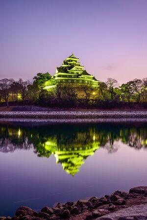 okayama: Okayama, Japan at Okayama Castle on the Asahi River.
