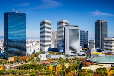 秋の大阪ビジネ スパークで大阪の街並み。