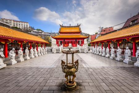 長崎孔子廟で。 写真素材