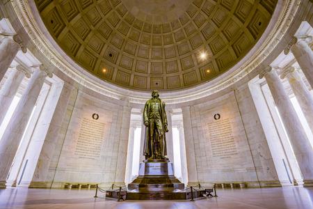 in copula: Washington, DC at the Jefferson Memorial. Editorial