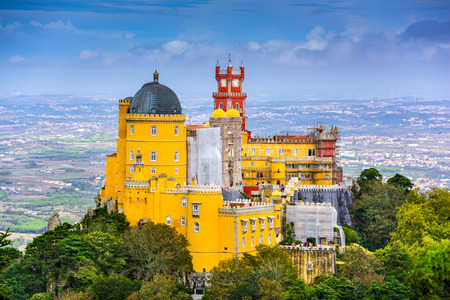Sintra, Portugal at Pena National Palace. Editorial