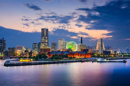 tokyo prefecture: Yokohama, Japan skyline at the bay.