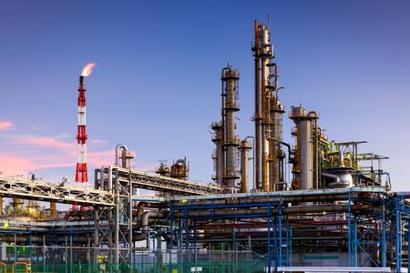 Oil Refineries in Kawasaki, Kanagawa, Japan.