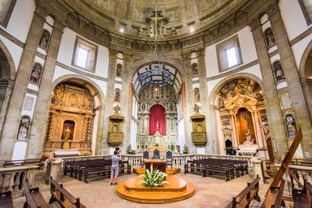 interior desing: VILA NOVA DE GAIA, PORTUGAL - OCTOBER 16, 2014: The interior of Serra do Pilar Monasterys prayer hall. The monastery dates from the 16th century. Editorial