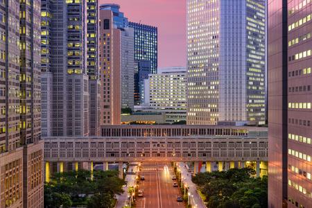 government: Tokyo, Japan government buildings at Tochomae in Shinjuku district.