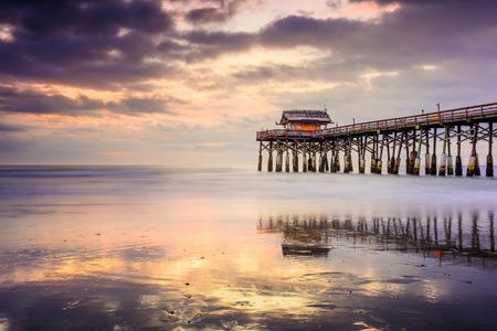 cocoa beach: Cocoa Beach, Florida, USA at the pier. Editorial
