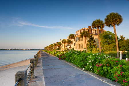 waterfront: Charleston, South Carolina, USA at the historic homes on The Battery. Editorial