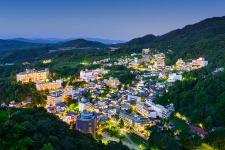 onsen: Arima Onsen, Kobe, Japan hot springs resort town.