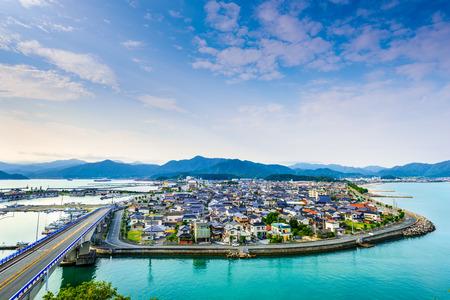 sea view: Senzaki, Nagato, Yamaguchi Japan town view.