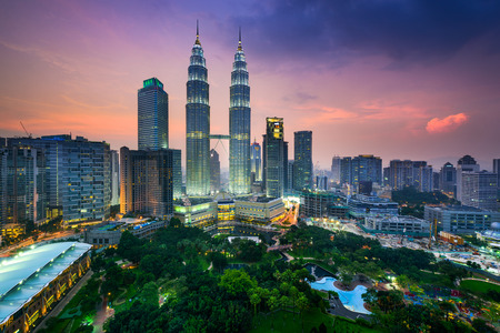 Kuala Lumpur, Malaisie toits de la ville. Banque d'images - 47356301