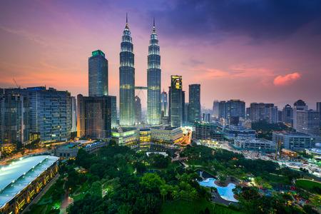 landschap: Kuala Lumpur, Maleisië skyline van de stad.