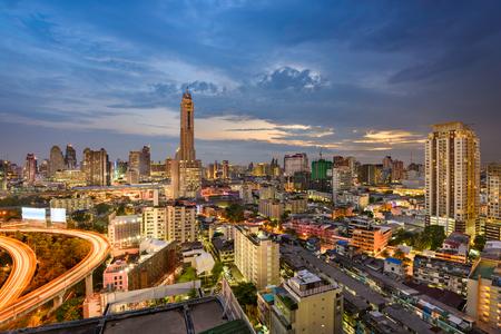 Bangkok, Thailand, city skyline.