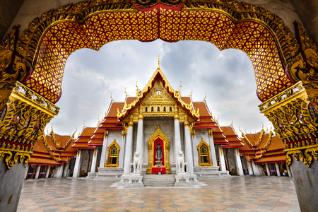 buddhist's: Wat Benchamabophit, the Marble Temple, in Bangkok, Thailand.