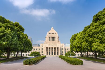 Tokio, Japan in het parlementsgebouw Kokkaigijido Stockfoto
