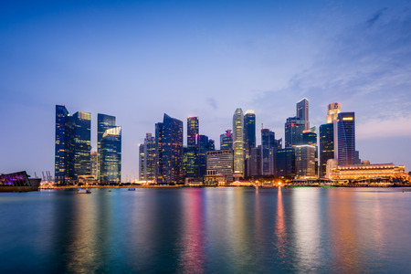 Singapore skyline on Marina Bay.