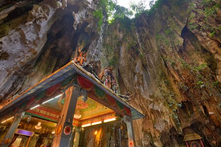 limestone caves: Batu Caves temple near Kuala Lumpur. Stock Photo