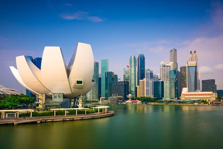marina bay: Singapore skyline at Marina Bay.