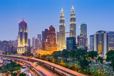 city park: Kuala Lumpur, Malaysia city skyline.
