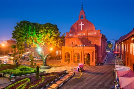 colonial church: Melacca, Malaysia at Christ Church.