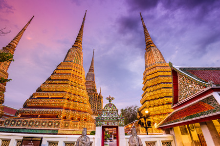 wat pho: Wat Pho Temple in Bangkok, Thailand. Stock Photo