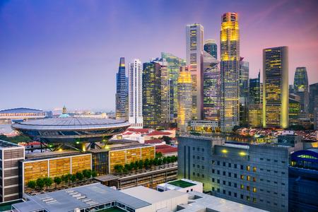 parliament: Singapore skyline.