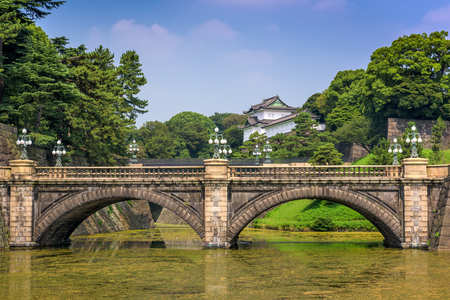 palaces: Tokyo Imperial Palace of Japan.