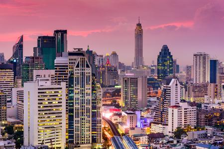 the thai: Bangkok, Thailand city skyline.