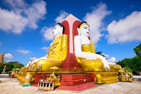 bouddha: Bago, Myanmar quatre faces de Bouddha au Kyaikpun Bouddha. Banque d'images
