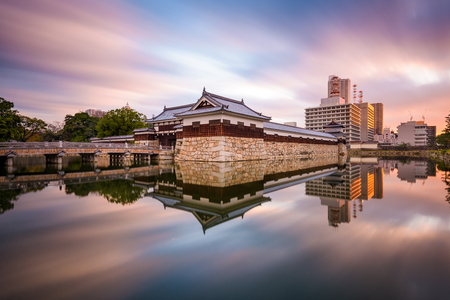 moat: Hiroshima, Japan at the castle moat. Editorial