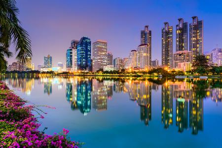 thai: Bangkok, Thailand at Benjakiti Park. Stock Photo