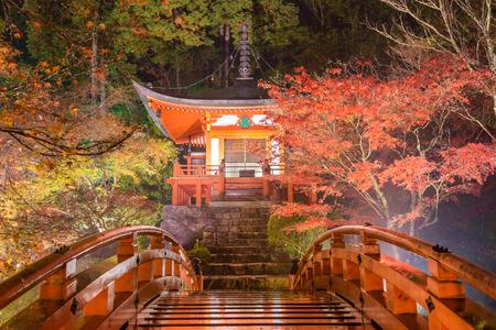 Kyoto, Japan at Daigoji Temple's Pagoda. Editorial