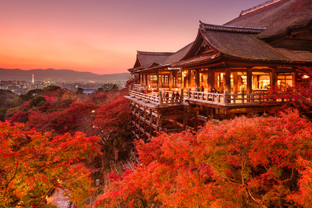 city lights: Kyoto, Japan at Kiyomizu-dera Temple.
