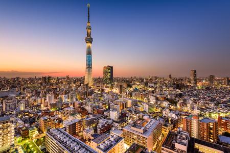 tokyo sky tree: Tokyo, Japan cityscape with the Skytree.